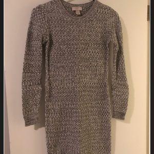 LOFT Grey Sweater Dress